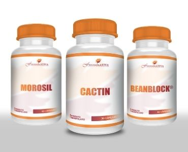 KIT Emagrecimento Autêntico - Cactin (500mg), Morosil (500mg) e BeanBlock (100mg)