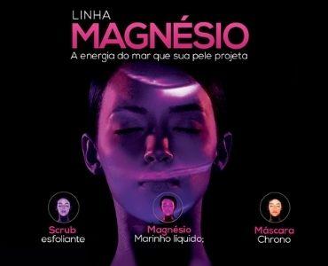 Linha Magnésio - Esfoliante, Máscara e Magnésio líquido